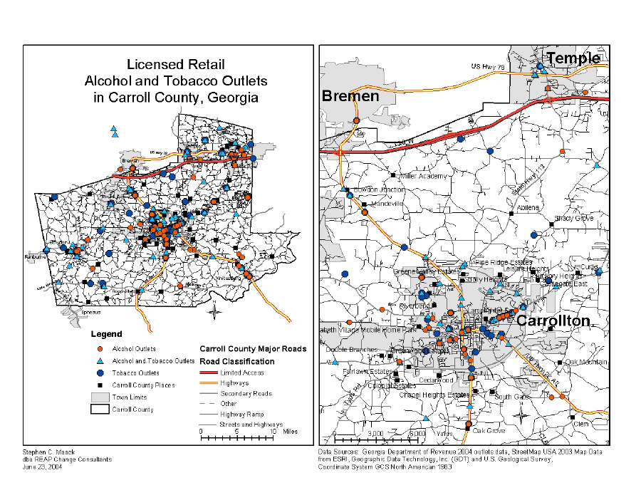 Carroll County, GA Alcohol and Tobacco Outlets